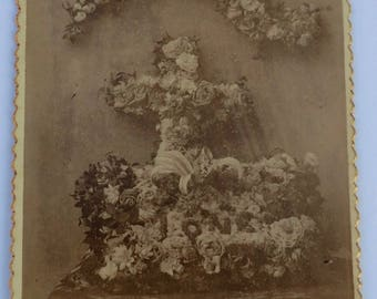 Mourning Cabinet Card Photo for Our Mom McHattie Funeral Flowers Death Mourning