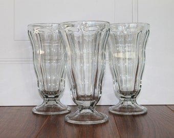 Vintage Ice Cream Soda Glass, Anchor Hocking Soda Glass, Ice Cream Sundae Glass, Vintage Milkshake, Listing For 1 Glass