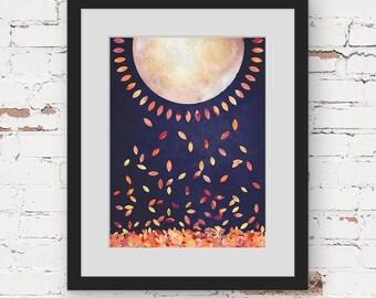 sunshine art print, modern bohemian art, scandinavian art, teen room art, navy blue art print, gold blue wall art, bright geometric wall art