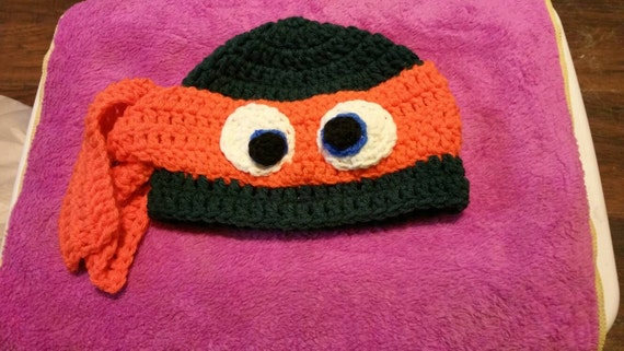 Handmade crochet teenage mutant ninja turtles cap