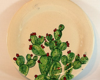 """Plate """"The happy cactus"""" (Dinner-Set available)"""