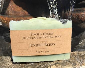 Juniper Berry, Natural Soap, Vegan Soap, Palm Free Soap, Handmade Soap, Cold Process Soap