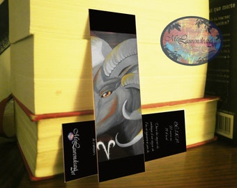 Bookmark Aries horoscope, zodiac bookmark, bookmark text horoscope, brand single page