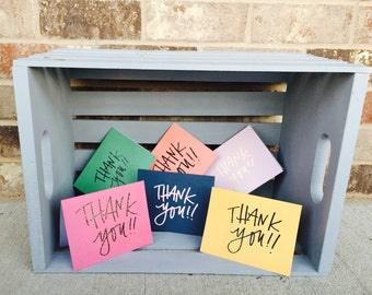 6 PACK -- embossed THANK YOU cards -- envelopes included.