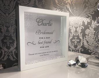 Bridesmaid crystal frame