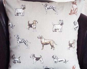 Dog Cushion Dog Print Cushion Clarke and Clarke Best in Show Dog Lover Gift Hound Cushion Dog Pillow Animal Lover Cushion Dog Home Decor