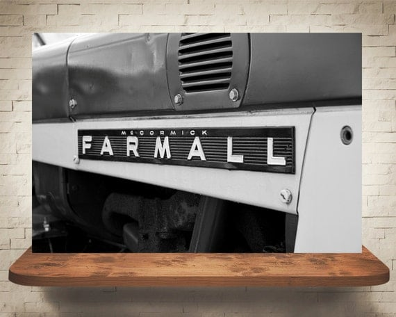 Farmall Tractor Photograph - Black White Photography - Fine Art Print - Home Wall Decor - Antique Tractors - Farm House - Farm Pictures