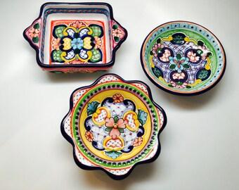 Talavera Snack Plates