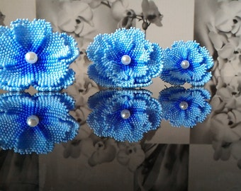 Hair Pins, Hair accessories, women, Flower Bead, beads flower