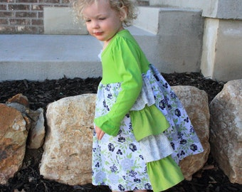 Easter Dress - Church - Sun Dress - Play Dress - Little Girl Clothes - Tshirt Dress - Modest Girl - See Store for Coordinating Sisters