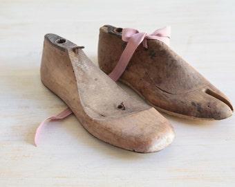 Antique Wooden Shoe Forms, Vintage Shoe Mold, Vintage Shoe Lasts, French Rustic Decor
