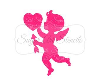 Cookie stencil Valentine's day  cupid NB600169