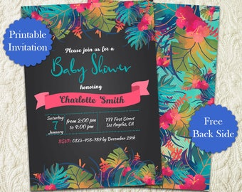 baby shower invitation luau baby shower invitation hawaiian baby