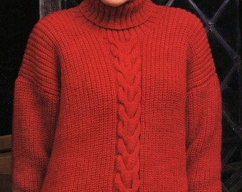 Knitting Patterns Fisherman s Rib Sweater : Fishermans rib Etsy