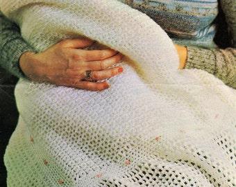 Baby Shawl, Blanket, Crochet Pattern. PDF Instant Download.