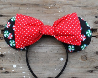Peppermint and Polka Dot Mouse Ears