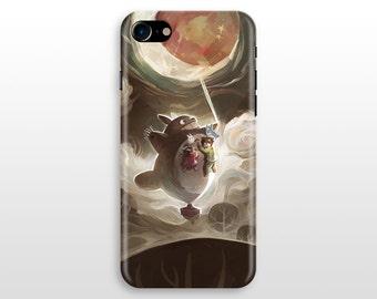 Totoro iPhone 7 case, iPhone 7 plus case, iPhone 6 case , iPhone 5 SE Samsung Galaxy S8 S7 S6 case My neighbor totoro studio ghibli
