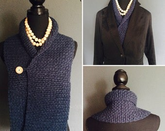 Classic crochet pattern scarf, col