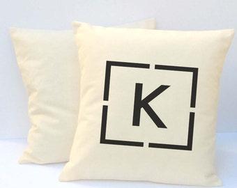 Monogrammed Pillow, Monogrammed Initial Pillow,  Personalized Wedding Pillow, Custom Pillow, Pillow