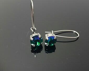 Swarovski Crystal drop earrings 39ss 1088 Chaton