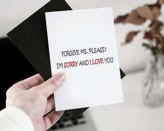 Cute apology card Etsy