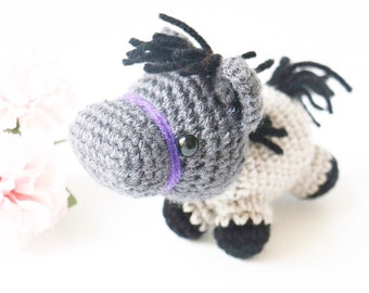 Sebastian the Amigurumi Pony - Horse Party Favors - Plush Horse Toy - Plush Horse Toy - Toy Horse Plush - Stuffed Horse Toy - Plush Horse