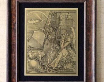 """Etching on brass. """"Melencolia I"""". After Albrecht Dürer."""