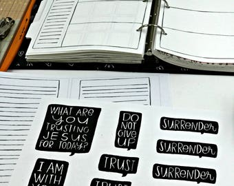 Daily Pages & TRUST Word Bubble Printables