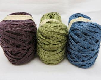 Knitted Linen Tape / Linen Yarn / Linen Tape Yarn / Warp Yarn / Fiber Art / Knitting / Crochet / Textile Art Material / Habu Textiles N98B