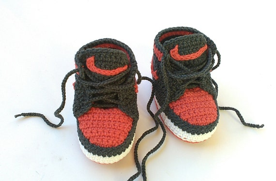 Crochet baby Nike booty Nike Air Jordan baby shoes Crochet