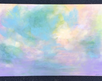 Ethereal // original abstract art // acrylic painting on canvas
