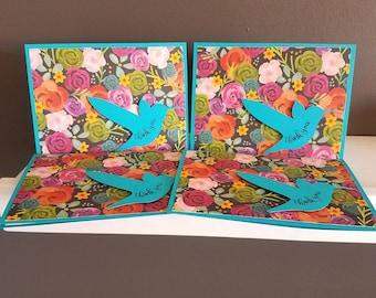 Hummingbird Thank You Cards