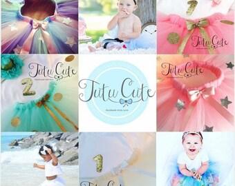Birthday Tutu skirt, Custom made, Design your own, Cake smash tutu skirt, Photography prop, 0-7 years available, 1st Birthday