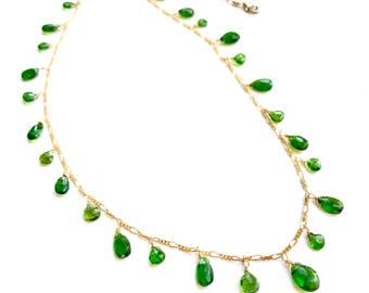 Chromium Diopside Necklace