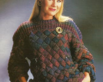 pdf Vintage Ladies Sweater Knitting Pattern.