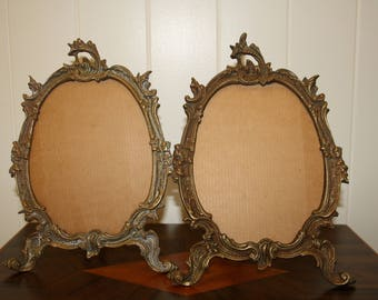 Pair of Brass Picture Frames