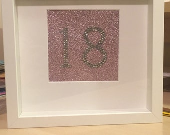 Crystal number frame