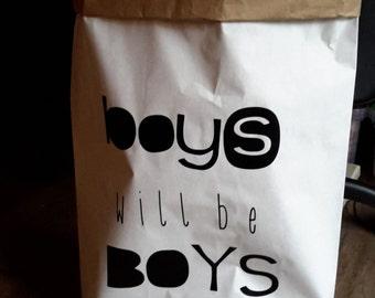 Paperbag boy girl