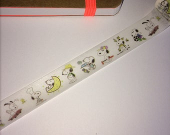 Snoopy washi tape, snoopy cartoon washi,dog washi, cute dog washi, planner, journal, scrapbooking, snoopy tape