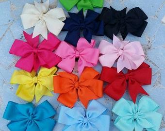 Bows, hair bows, pinwheel bows, colorful bows,