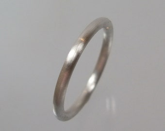 Stacking ring ring silver ring 2 mm