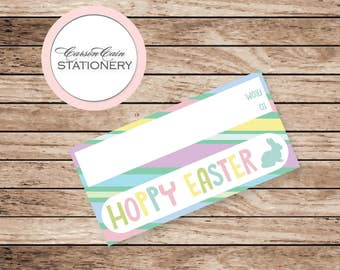 Hoppy Easter - Kids Easter Goody Bag Toppers