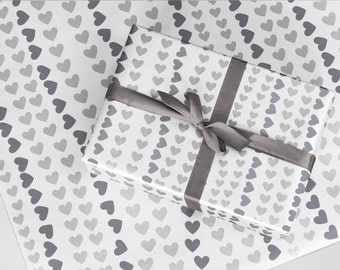 Heart Wrapping Paper (2x A2 Sheets)
