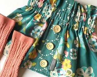 Girl's Skirt, 4 Fabric Options, High Waist Skirt, Toddler, Vintage Style Skirt, Spring Skirt, Easter Outfit, Sister Set, Custom Skirt