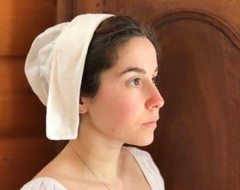 Plain Historical Linen Cap