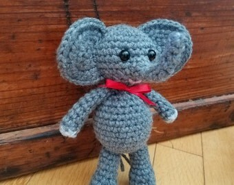 Elliot the Elephant - crochet amigurumi stuffed toy