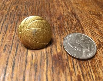 Vintage Basketball Pin - Varsity