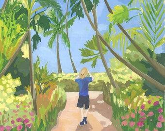 Original Palm trees painting / Day dream island painting / Australia painting