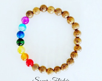 Stretch Bracelet * Chakra beads bracelet
