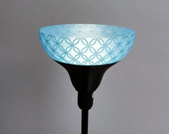 Lamp shade lamp or Wall Sconce black and blue for model IKEA